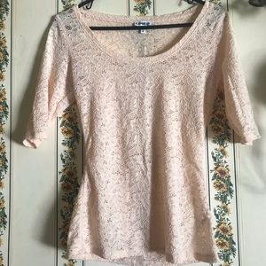Express Laced Tee NWOT